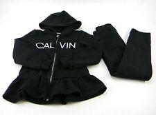 Calvin Klein Girls 2-pc Set Hooded Shirt & Legging Pants Black Size 5 Cotton