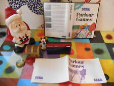--- PARLOUR  GAMES  - Complet  pOur Sega Master System   1990  --