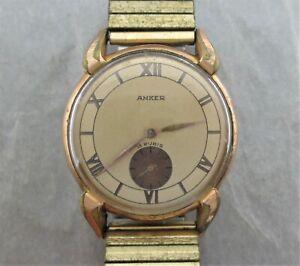 Anker Herrenuhr,ca.50er Jahre,PUW 500,Handaufzug,mechanisch,ohne Band,ohne Krone