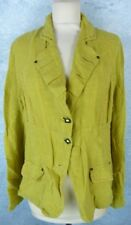 TRICOT CHIC Veste Taille 42 Fr - Vert Anis - Lin 100%