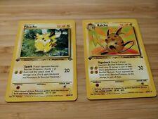 Pokémon 1st Edition Raichu Fossil #29/62 + Pikachu Jungle Cards #60/64