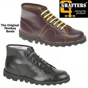 Grafters The Original Monkey Boots Men's Women's & Kids Retro 60's Black Shoes