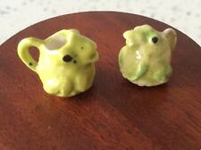 Dolls house 1:12 ARTISAN handmade PAIR of frog jugs