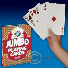 Jumbo Playing Cards Desk Huge Jumbo Card Poker Stage Magic Tricks Game Play