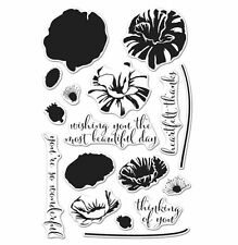 NEW Hero Arts Clear Stamps Color Colour Layering Poppy