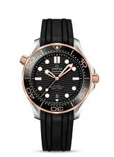 Omega Seamaster Automatic Steel 18kt Gold Black Men's Watch 210.22.42.20.01.002