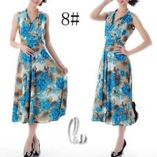 Polyester Floral Wrap Dresses