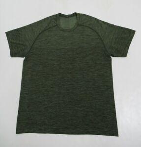 Lululemon Metal Vent Tech Short Sleeve Green Twill / Dark Olive Size L Stretch