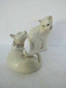 Lenox SWEET DEVOTION Cats Swarovski Crystals & Rhinestone Collar - Love Pair