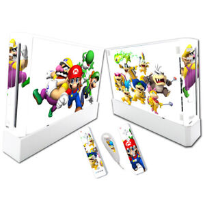 WHITE MARIO Nintendo Wii Vinyl Skin STICKER Protector for Console & Controllers