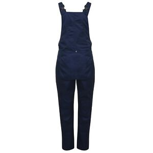 Bib and Brace Overalls Workwear Navy Fortis 245 Durable 50+ UPF Rating
