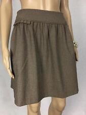 ** PORTMANS ** Size 8 Brown Plaid Womens Corporate Mini Skirt - (A626)