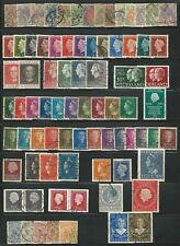 Netherlands:Lot of 80 different stamps of queen Wihelmina and Queen Juliana NT23