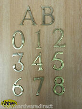 "3"" House Number Front Door  Numeral Modern Back Door Porch New - Brass Or Chrome"
