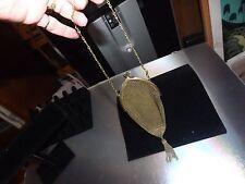 EDWARDIAN ANTIQUE GOLDEN MESH METAL CHAIN TASSELS GOLDEN MUSEUM QUALITY PURSE