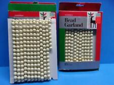 Vintage Christmas Garland National Tinsel Velvetouch Lot of 2 Boxes Pearl Bead