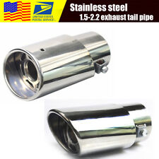 Universal Steel Auto Car Rear Round Exhaust Pipe Tail Muffler 1.5-2.2 INCH