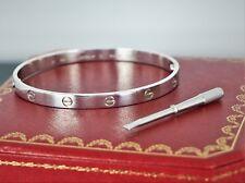 $6750 Men's Original Cartier 18k White Gold Bangle Love Bangle Bracelet Size #21