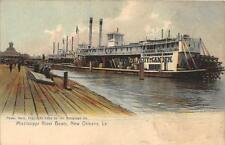 CPA MISSISSIPI RIVER BOATS NEW ORLEANS la