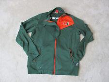 NIKE Miami Hurricanes Jacket Adult Medium Green Orange College Football Mens