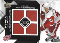 2008-09 Black Diamond Jerseys Quad #BDJHZ Henrik Zetterberg Jersey - NM-MT