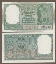 New listing Km#36.B 1962/67 India 5 Ruble Note Unc