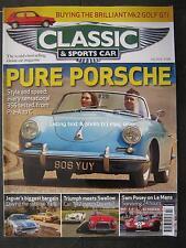 Classic & Sportscar July 2015 Porsche 356 Jaguar XJ-S Golf GTi Mk2 TR2 Doretti