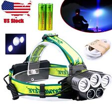 80000Lumen 5x CREE T6 LED Headlamp USB Rechargeable 18650 Headlight Head Lamp DH