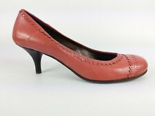 Miss Sixty Pink Leather Mid Heel Shoes Uk 4 Eu 37
