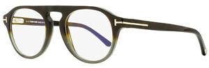 Tom Ford Magnetic Clip-on Eyeglasses TF5533B 55N Havana/Gray Shaded 49mm FT5533