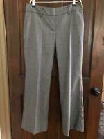Dress Pants SIZE 6 Ann Taylor Loft Julie Fit 🌸 GRAY Women's Flat Front Curvy