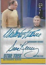 Star Trek The Remastered Original Series Double Autograph Card DA9 Mendez - PIKE