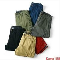 Hot Mens Loose Fit Mid Long Casual Summer Cargo Army Comfy Cargo Shorts Pants