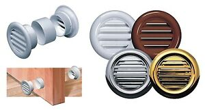Bathroom Door Air Vent Grille Sleeve Mini Circle Round Ventilation Cover T71