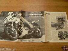 HAP-183 YAMAHA BROCHURE  SONDERDRUCK MO 1984 YAMAHA XJ900 GERMAN 6 PAGES