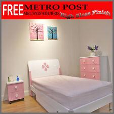 Girls Bedroom Bedside Table Chest Drawer King Single Bed Mattress Order Separate