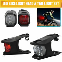 Kit éclairage lumière vélo phare avant + arrière led lampe