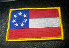 First National Flag 7 Stars American FLAG  EMBROIDERED  3 INCH MC BIKER PATCH