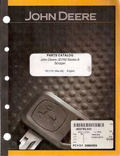 John Deere 760 Series A Self-Propelled Motor Scraper Parts Manual