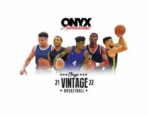 2021/22 Onyx Vintage Collection Basketball Box Pre Sale
