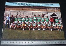 CLIPPING POSTER FOOTBALL 1985-1986 D2 RED-STAR SAINT-OUEN BAUER