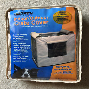 """Indoor/Outdoor Heavy Duty Pet Dog Crate Kennel Cage Cover 30"""" Tan NEW"""