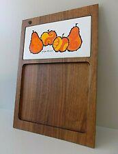 vtg Mid Century Modern Mod Woodland Georges Briard Wood Bar Cocktail Tile Board