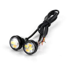 2Pcs 12V 15W Eagle Eye 4 LED Running DRL Backup Light Car White Auto Lamp Bulbs