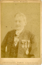 Eugène Pirou, Professeur à identifier, ca.1885, Carte Cabinet, Vintage albumen p