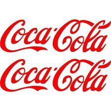 2 Sticker Autocollant Coca Cola  2 tailles Couleurs au choix