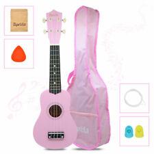21 inch Soprano Ukulele Acoustic Musical Mini Guitar Strings Instrument Pink Bag