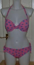 Polyester Halterneck Spotted Regular Size Swimwear for Women
