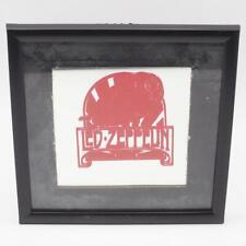 Vintage 80s Led Zeppelin Red Mothership Carnival Prize Glass Mirror Framed
