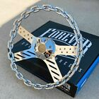13 Chrome Chain Steering Wheel Usa Flag With Engraved Horn Button-6 Hole